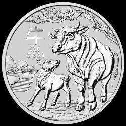 PM Lunar 3 OX 1 kilo silver 2021 BU $30 Australia