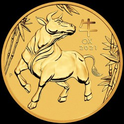 PM Lunar 3 OX 1/20 oz GOLD 2021 BU $5 Australia