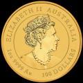 PM Lunar 3 Mouse 1 oz GOLD 2020 BU $100 Australia