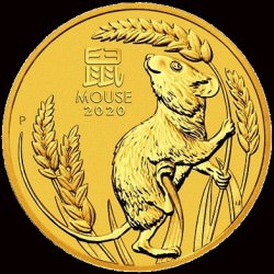 PM Lunar 3 Mouse 10 oz GOLD 2020 BU $1000 Australia