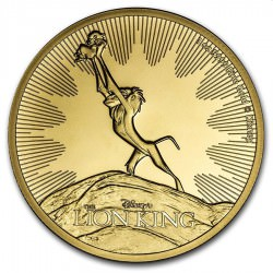 1 oz GOLD 25th anniversary LION KING THE CIRCLE OF LIFE 2020 $250