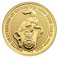 U.K. 1/4 oz gold QUEEN'S BEAST 2021 The WHITE GREYHOUND OF RICHMOND £25