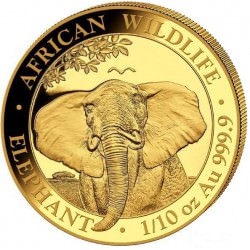 GOLD 1/10 oz ELEPHANT 2020 SOMALIA
