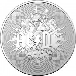 RAM 1 oz silver AC/DC 2021 Frosted Uncirculated