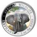 1 oz silver SOMALIA ELEPHANT 2021 Gilded Shillings 100