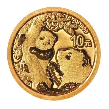 Gold CHINA PANDA 1 GR 2020 YUAN 10