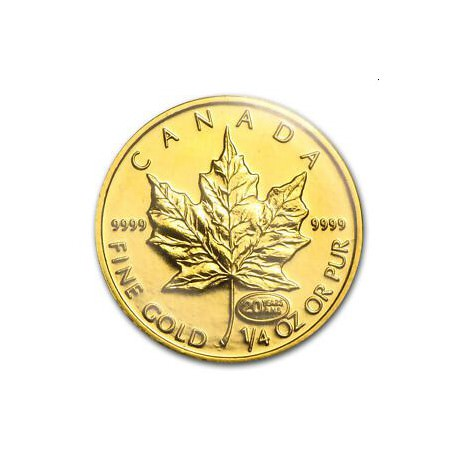 GOLD 1/4 oz GOLD MAPLE LEAF 1999 $25 Privy 20 anniversary Mintage 500