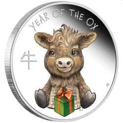 Baby Ox 2021 1/2oz Silver Proof Coin