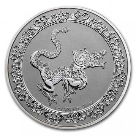 NIUE 1 oz silver Celestial GREEN DRAGON 2019 $2