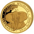 GOLD 1/4 oz ELEPHANT 2021 SOMALIA Shillings 200