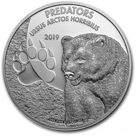 CONGO 1 oz silver Predators URSUS MARITIMUS 2020 Polar Bear 20fr.
