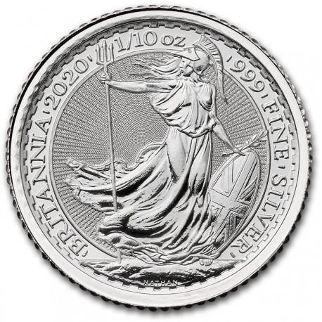 1/10 oz silver Briatnnia 2020 BU 20P