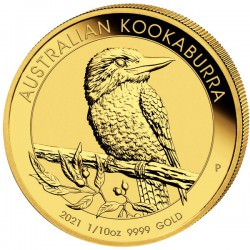 PM 1/10 oz gold KOOKABURRA 2021 $15