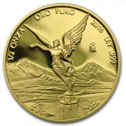 Mexico 1/2 oz gold MEXICO LIBERTAD 2016 Proof