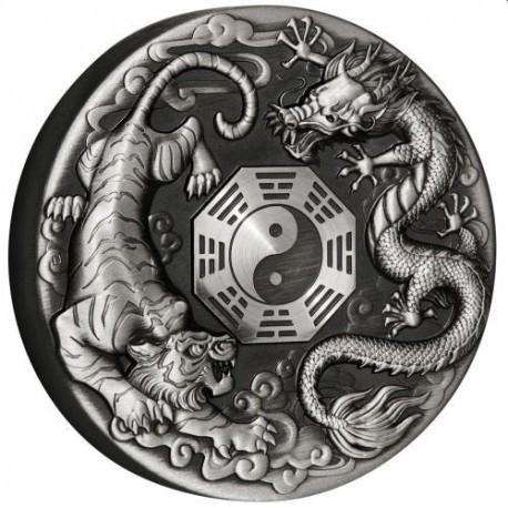 Dragon 2017 2oz Silver Antiqued Coin
