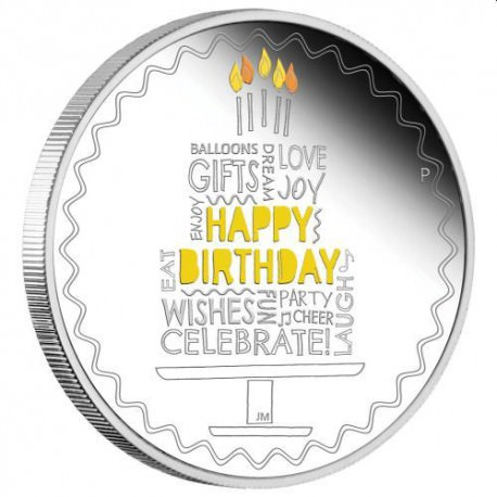 Happy Birthday 2019 1oz Silver Coin