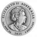PERTH MINT Australian Lunar Series III 2020 Year of the Mouse 2oz Antiqued Silver Coin Mintage 1888