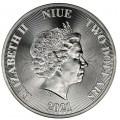 1 oz silver Niue TREE OF LIFE 2021 $2
