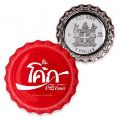 Perth Mint 2020 6 GRAM FIJI COCA-COLA GLOBAL EDITION nr5 - TAIWAN BOTTLE CAP .999 SILVER PROOF COIN