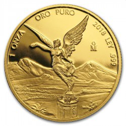 1 oz gold LIBERTAD 2018 PROOF