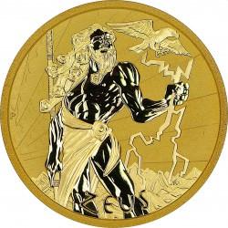 PM 1 oz GOLD GODS OF OLYMPUS 2021 ZEUS BU $100 MINTAGE 100
