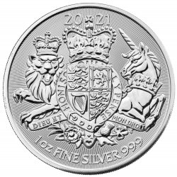 U.K. 1 oz silver The ROYAL ARMS 2021 £2