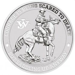 PM 1 oz silver JOHN WAYNE on HORSE 2021 $1