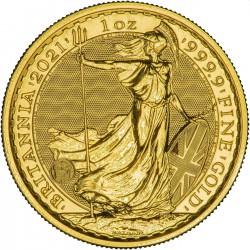 1/4 oz GOLD BRITANNIA 2021 £25