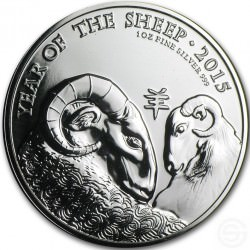 1 oz SILVER UK SHEEP 2015