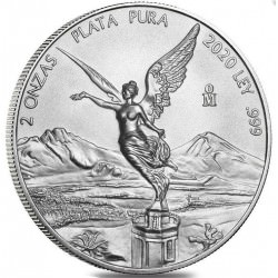 MEXICO 2 oz silver LIBERTAD 2021