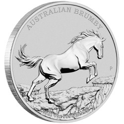1 oz silver Australian BRUMBY HORSE 2021 $1