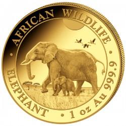 GOLD 1 oz ELEPHANT 2022 SOMALIA 1 000 shillings