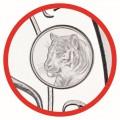 1 oz silver SOMALIA ELEPHANT 2022 Shillings 100 Privy Tiger