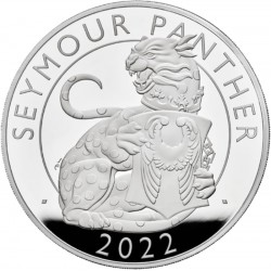UK 2 oz silver The SEYMOUR PANTHER 2022 £2 PROOF Box + Coa The ROYAL TUDOR BEASTS COLLECTION