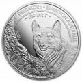 CONGO 1 oz silver Predators DUSICYON AUSTRALIS 2020 BU 20fr.