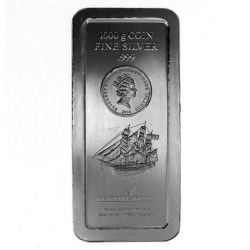 SILVER BAR 1 KILO BOUNTY BU minted Cook Islands 2008