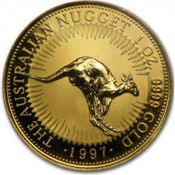1 oz gold NUGGET 1997