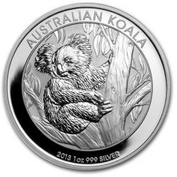 Perth Mint 1 oz silver KOALA 2013 $1