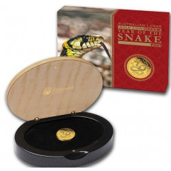 1/10 oz gold LUNAR SNAKE 2013 PROOF