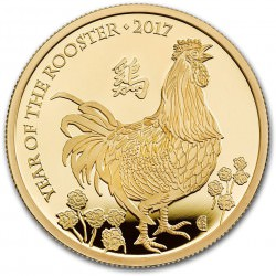 1 oz gold UK LUNAR ROOSTER 2017