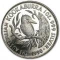 1 oz silver KOOKABURRA 1990 PROOF