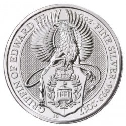 2 oz silver QUEEN'S BEAST 2017 GRIFFIN