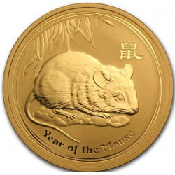 1 oz gold Lunar MOUSE 2008