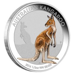1/2 oz Silver Coloured KANGAROO 2016 MELBOURNE