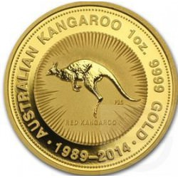 Or NUGGET 1 oz GOLD 1989 - 2014