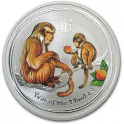 2 oz silver MONKEY 2016 Colored