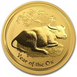 1/4 oz gold LUNAR OX 2009