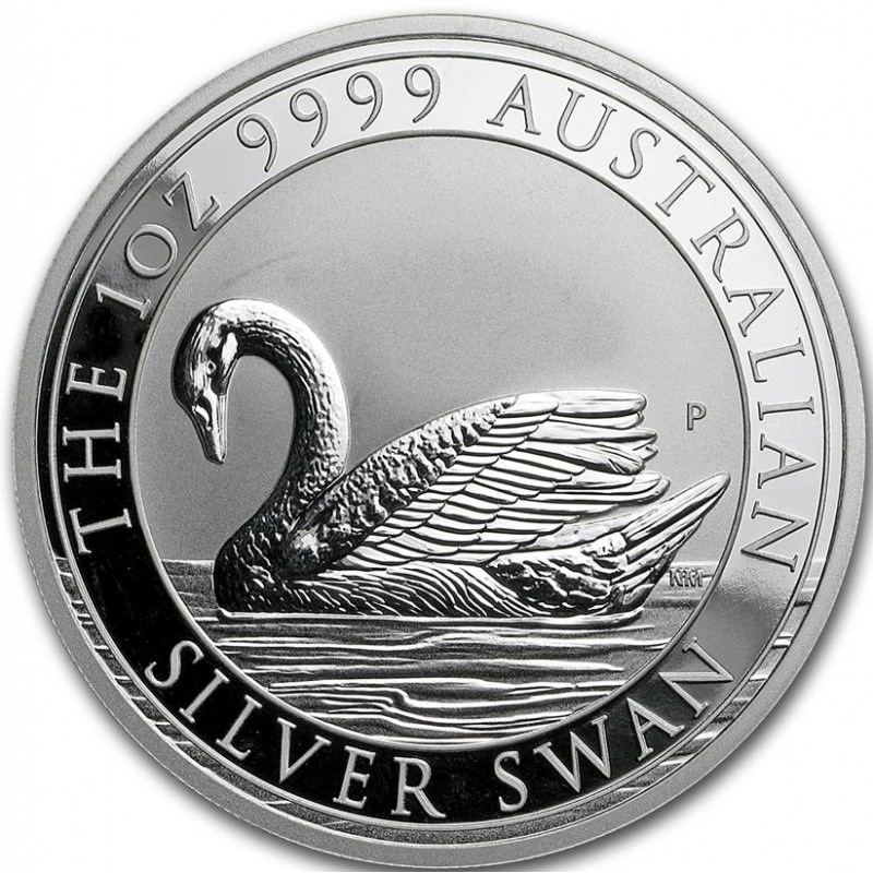 1 Oz Silver Swan 2017 Goldsilver Be