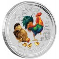 1/2 oz silver ROOSTER 2017 Colored