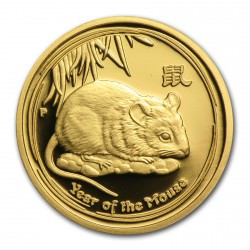 1/10 oz Gold Lunar Series II 2008 Year of the Mouse Proof Coin box+coa
